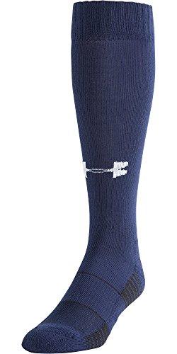 Under Armour - Calcetines largos, Unisex, color azul marino, tamaño medium