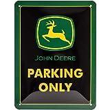Nostalgic-Art 26182, Metalen Retro Bord, John Deere – Parking Only – Geschenkidee voor tractorfans, van metaal, Vintage ontwe
