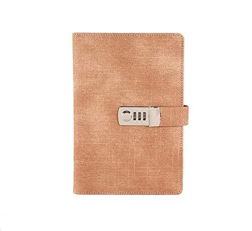 Blocchi appuntiPassword Notebook Carta Bloccante Libro portatile Pu Leather Diary Lock Traveler Journal Weekly Planner School Articoli di cancelleria