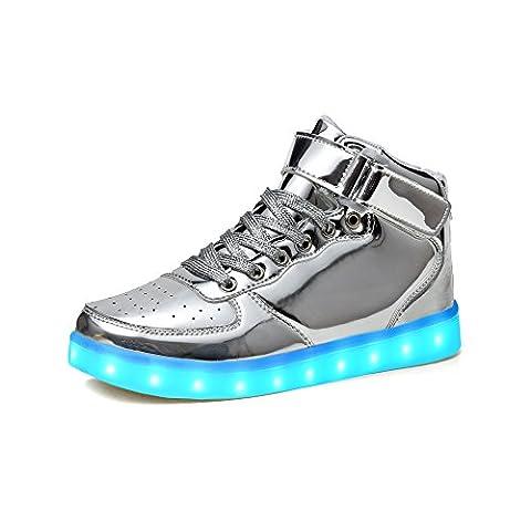 Baskets Lumineuses Homme - LeKuni Chaussure Led Lumineuse Unisexe Chaussures de