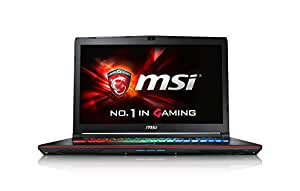 MSI GE72-6QF16H21 43,9 cm (17,3 Zoll) Notebook (Intel Core i7 -6700HQ (Skylake), 16GB DDR4 RAM, 1TB HDD, 256GB SSD, NVIDIA Geforce GTX 970M, Win 10 Home) schwarz