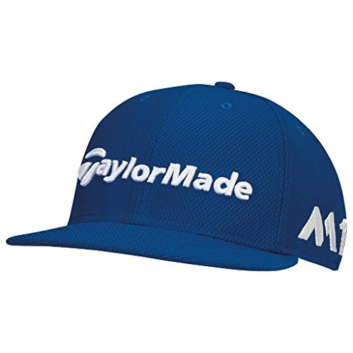 TaylorMade 2017 New Era Tour 9Fifty P5 Flat Bill Hat Structured Mens Snapback Golf Cap Blue Azure
