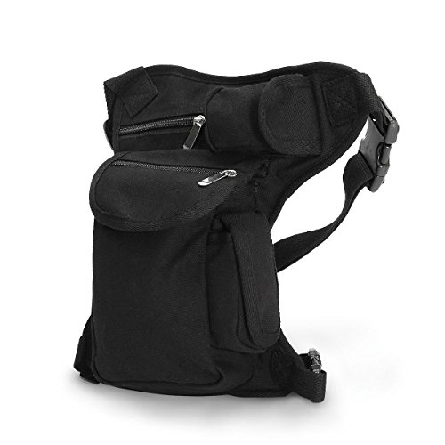 e6de60f583 CAMTOA Canvas Borsa da Gamba Marsupio /Drop Leg Bag / Leg Bags / Waist Belt
