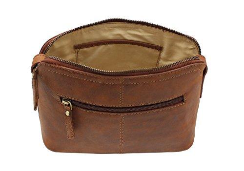 Mala Leather , Damen Umhängetasche, hautfarben (Braun) - 7118_88 hautfarben