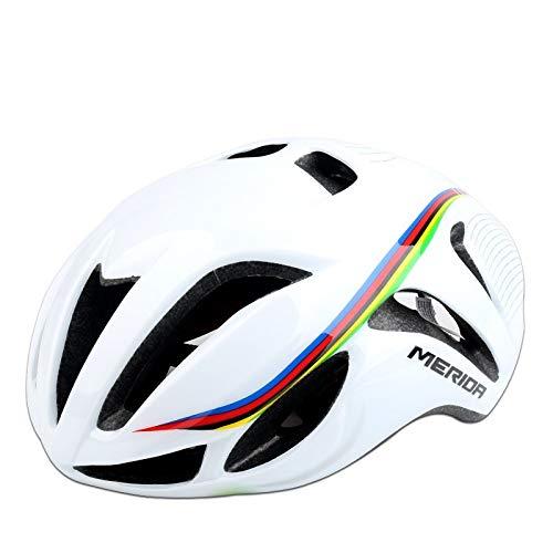 WRGWEHG Fahrradhelm Rennrad/Air Break Edition/Reithelm / Integriertes Formteil/Herren Schutzhelm/Fahrradausrüstung, Weiß (56-61Cm) Uniform Code