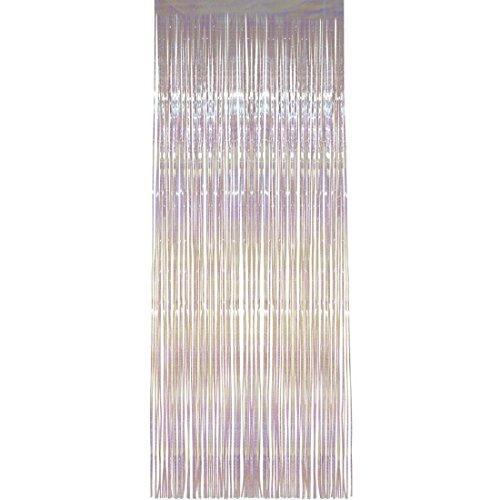 Cortina brillante Visillo de hilos con brillo 91 x 244 cm Cortina decorativa para puerta Estor lámina Colgador puerta deshilachado Elemento decorativo fiestas