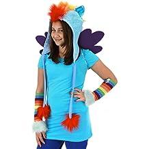 My Little Pony Rainbow Dash Hoodie Laplander Hat - One Size