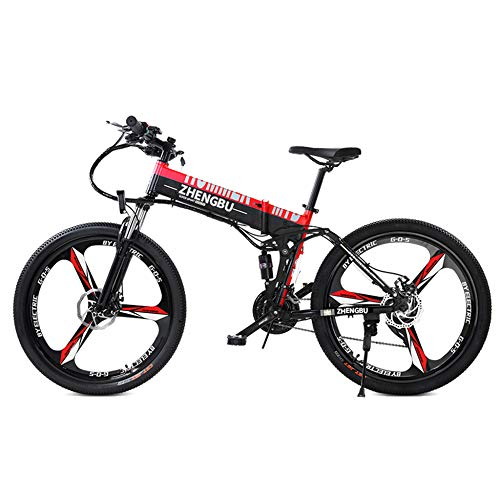 41fuq6mC%2BWL. SS500  - MERRYHE Folding Electric Bikes 240W 48V10AH Mountain Bicycle 27 Speeds Cruiser E-bike Road Bike Two Styles To Choose From Electric Booster - 90km / Pure Booster Riding - 10000km
