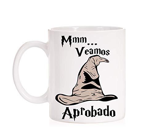 FUNNY CUP Taza Sombrero seleccionador. Aprobado. Taza Divertida de Harry Potter para aprobados en oposiciones, exámenes, o cursos. Taza Regalo