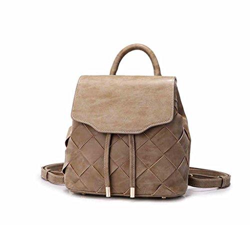 Strick-Funktion Schultertasche Freizeit Handtaschen Kleine Rucksack Drawstring Stricken Scrub Stoff Retro Style Bag -