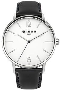 Ben Sherman Hombres Reloj De Cuarzo Con Esfera Analógica blanca y correa de piel dos tonos wb059bu de Ben Sherman
