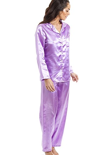 Pyjama long en satin - Violet Violet