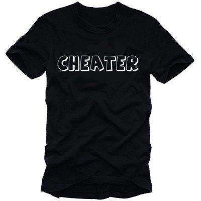 CHEATER t-shirts cheats BLACK schwarz / weiss Gr.XXL