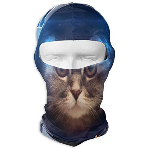 Voxpkrs Balaclava Funny Kitten Cat Solar System Fantastic Face Mask Winter Sports for Women