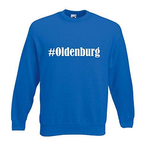 Reifen-Markt Sweatshirt #Oldenburg Größe 2XL Farbe Blau Druck Weiss