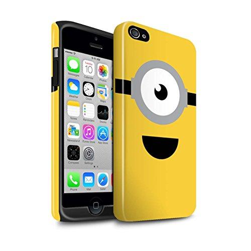 STUFF4 Glanz Harten Stoßfest Hülle / Case für Apple iPhone 4/4S / Stuart/Aufgeregt Muster / Süßer Minion Inspiriert Kollektion (Despicable Me Iphone 4 Fall)