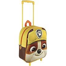 Paw Patrol Mochila trolley Trolley 3D Patrulla Canina Rubble Amarillo