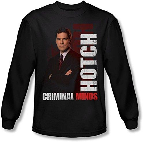 Criminal Minds - Herren Langarm-Shirt Hotch In Black Black