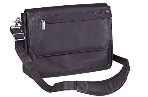 Pierre by ELBA 100402088 hochwertig weiche Leder-Laptoptasche Slim für Notebooks bis 15 Zoll Urban Line mit Akten- und Zubehör-Fach und textilem Innenfutter -