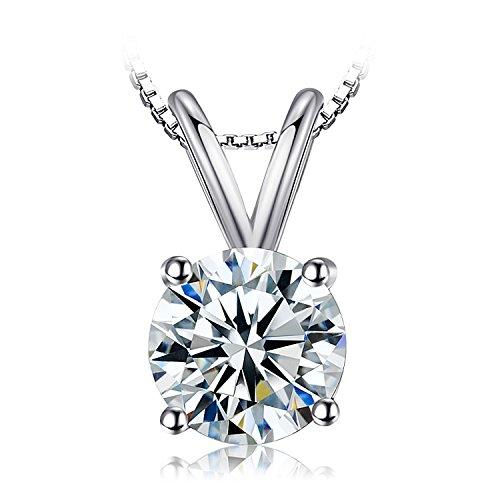 Jewelrypalace donna gioiello 1.32ct cubic zirconia sintetico orecchini ciondolo collana pendente catena 45cm argento sterling 925