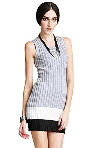 Insun Damen Kleid Gr. One size, Grau - Grey Black