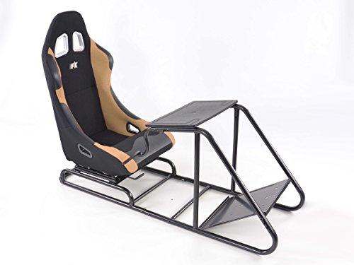 FK-Automotive Game Seat für PC und Spielekonsolen Stoff schwarz/beige
