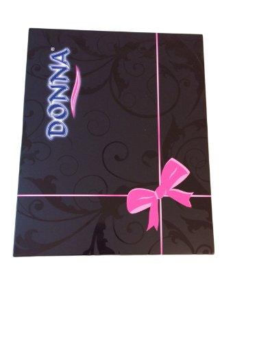 Donna - Chemise de nuit - Manches Courtes - Femme Noir Noir Blanc - Ecru