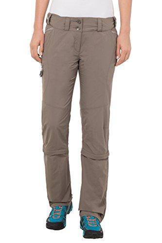 VAUDE Damen Hose Skomer Capri Zip Off Pants, Coconut, 44/XL, 5405