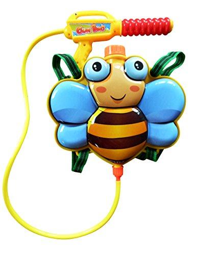 S34 Wasserpistole Pumpgun mit süßem Bienen-Rucksack als - Ghostbusters Kostüm Kleinkind