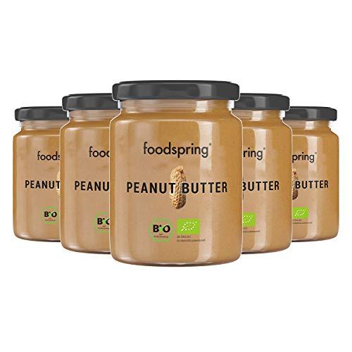 foodspring Bio Erdnussbutter, 6 x 250g, Peanut Butter als leckerer Protein-Snack