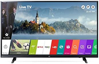 "LG 43UJ620V 43"" 4K Ultra HD Smart TV Wi-Fi Black LED TV, 43"", 3840 x 2160 Pixels, LED, Wi-Fi, Nero"