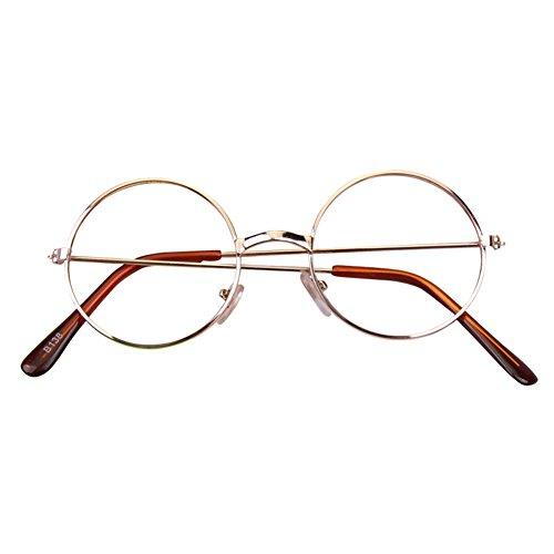 Hibote Mädchen Junge Runde Brille - Clear Lens Glasses Frame Geek/Nerd Brillen mit Car Shape Gläser Fall
