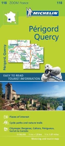 Quercy Perigord - Zoom Map 118 (Michelin Zoom Maps) por Michelin