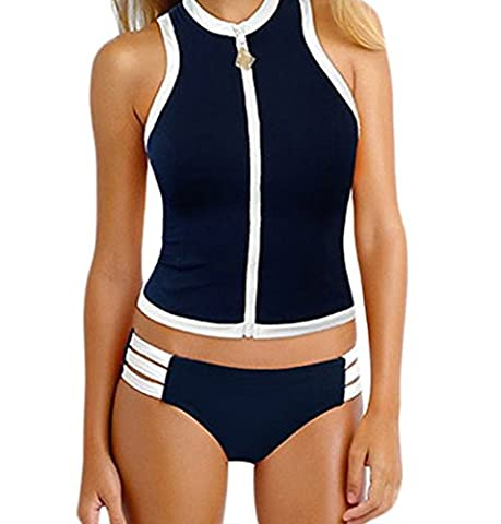 Bling-Bling Block Party Rash Vest & Multi-strap Hipster(Size,L)
