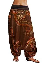 Sarouel virblatt unisexe pantalon ethnique avec tissages traditionnels, sarouel avec une taille élastique et confortable, pantalon ethnique, taille unique, vêtements ethniques S - L Traumfänger