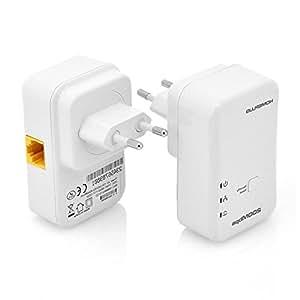 Kit adaptateur ethernet CPL - 200Mbps / QoS / Parfait pour les TV IP HD / Plug + Play