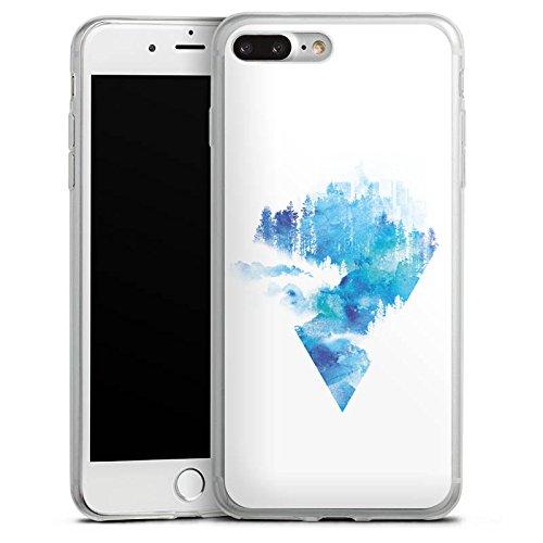 Apple iPhone X Slim Case Silikon Hülle Schutzhülle Dreieck Blau Weiß Silikon Slim Case transparent