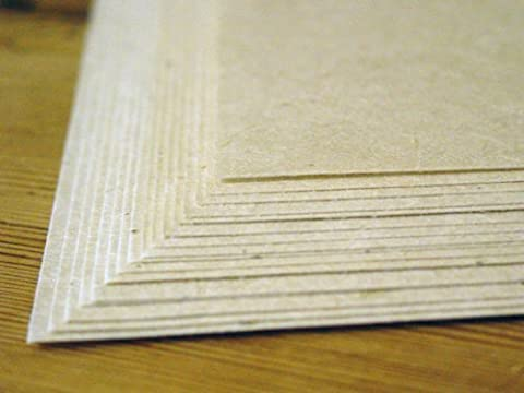 10 Seed Embedded Recycled Lotka Cardstock Handmade Paper by Of The Earth