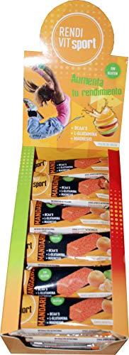 24 Barritas Energéticas Pulpa de Fruta - Mandarina sin frutos secos Rendi Vit Sport 4 sabores Naturales Artesanas Ciclismo Running
