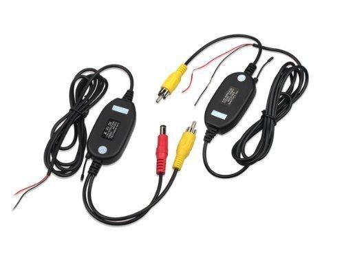 Buyee Wireless Funk Transmitter für Rückfahrkamera,Kabellos Adapter für Rückfahrkamera / Einparkhilfe,kabellose Videoübertragung Sender & Empfänger 2,4GHz/100m Funkreichweite