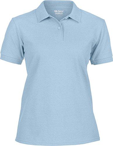 Gildan Ladies Premium Pique Polo Shirt S Sky Blue (Pique Premium Womens Polo)