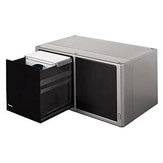 Hama CD/DVD/Blu-ray Magic Touch Aufbewahrungsbox (für 120 CDs, Hängeregister inklusive Sleeves, mit integriertem Touch Release) silber
