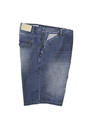 Maxfort genziana bermuda jeans calibrato uomo taglie forti (64 girovita 124cm)