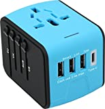 #9: Voltronix Travel Adapter With USB, All-In-One Universal Worldwide Travel Adapter With 4 Usb Ports