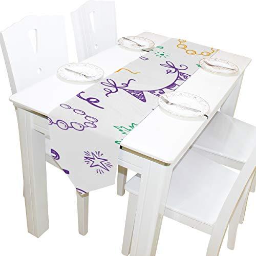 e Ringe Kommode Schal Tuch Abdeckung Tischläufer Tischdecke Tischset Küche Esszimmer Wohnzimmer Home Hochzeitsbankett Decor Indoor 13x90 Zoll ()