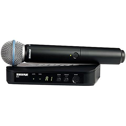 Shure BLX24/BETA58A micrófono de radio profesional para espectáculos de canto y en directo