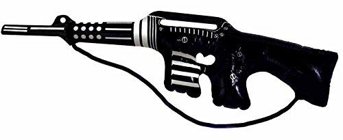 Islander Fashions gonfiabile mitragliatrice nero con argento 90 centimetri Blow Up Toy vestito operato di accessori One Size