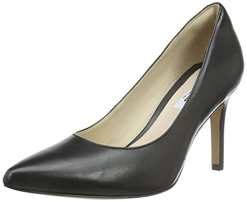 Clarks Dinah Keer, Scarpe Peep-Toe Donna, Nero (Black Leather), 37.5 EU