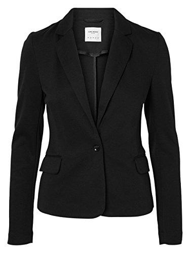 VERO Moda - Damen Jersey-Blazer in grau, schwarz,blau,Curry,Rose oder Wine (10154123), Größe:42, Farbe:Black