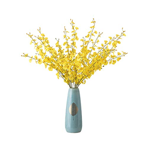 Simple Living Room Flower Vase Dekorationsornamente Künstliche Blumen Dekorative Blumentanz Orchidee Künstliche Blumen,A